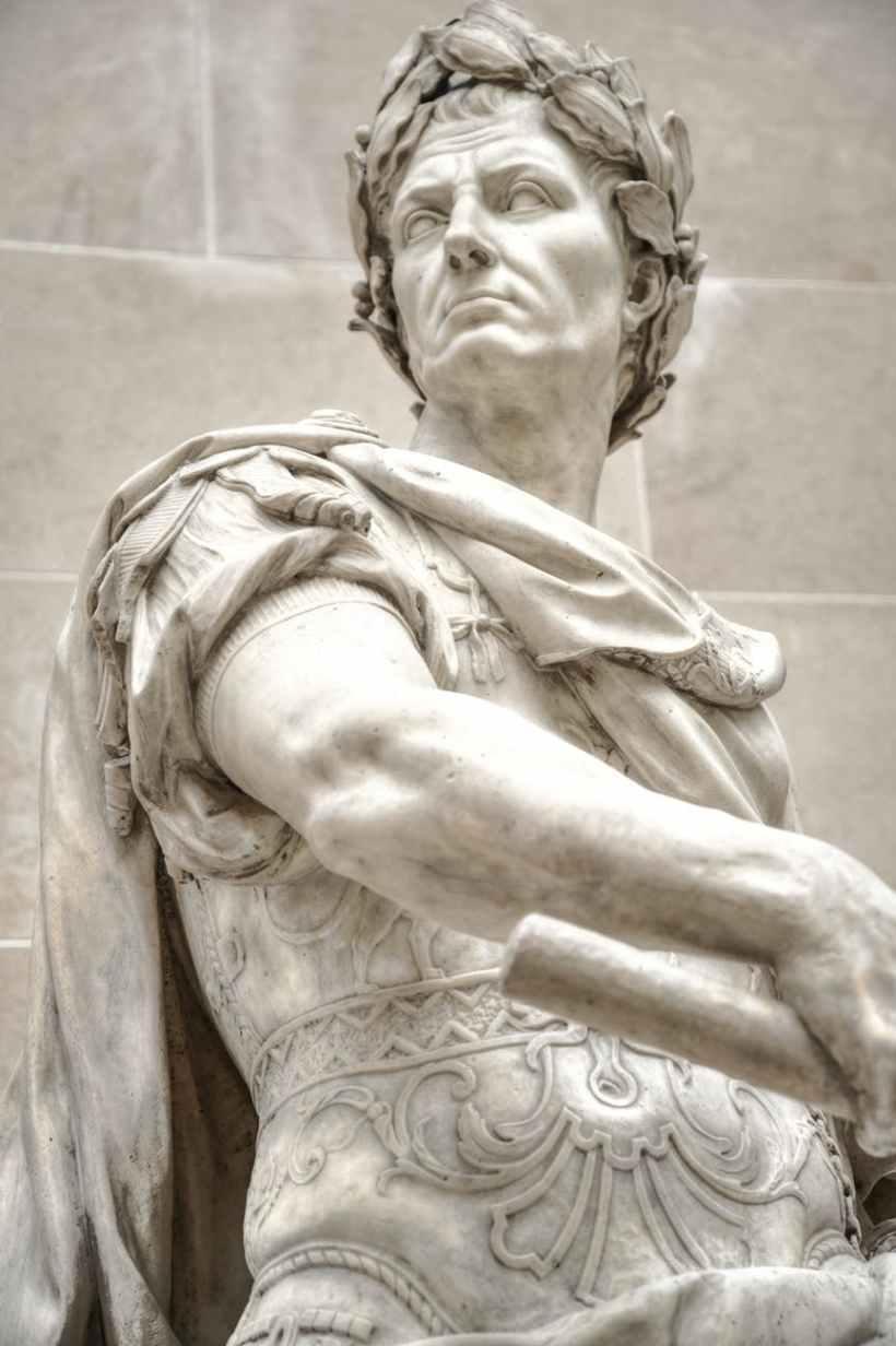 julius caesar marble statue