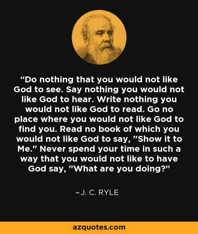 JC Ryle Quote God knows