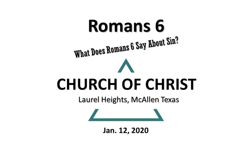 Rom. 6 for Jan. 12
