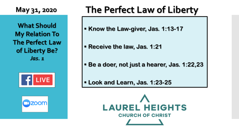 Perfect Law of Liberty May 31