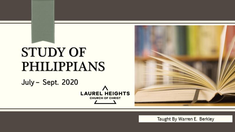 Opening Slide Philippians