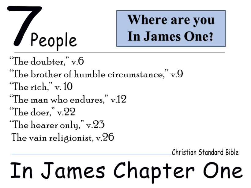Where are you in james 1